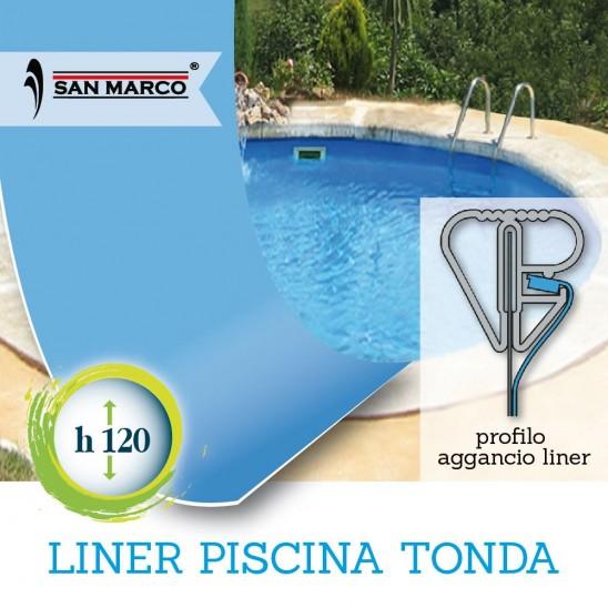 Liner per piscina circolare da 360 cm altezza 120 cm san for Liner per piscine