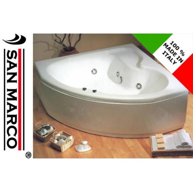 Vasca da bagno idromassaggio ad angolo 140x140cm san marco - Bagno con vasca angolare ...