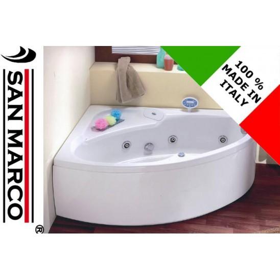 Vasca da bagno angolare 150x100x55 cm san marco - Dimensioni vasca da bagno angolare ...