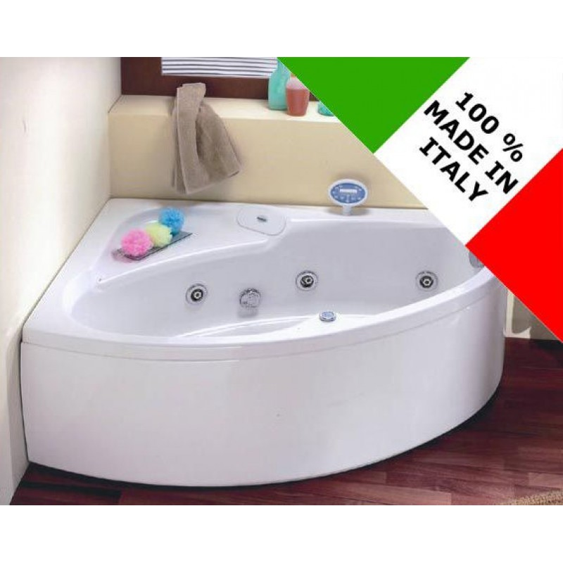 Vasca da bagno idromassaggio angolare 150x100 cm san marco - Brico vasche da bagno ...