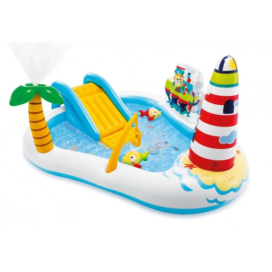 Piscina da giardino Intex Fishing Fun con scivolo 218 x 188 x H 99