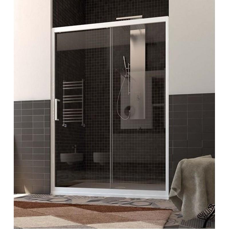 Porta doccia per nicchia con anta fissa e scorrevole san marco - Porta scorrevole per doccia ...