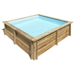 Piscina in Legno quadrata Gre City da 225x225 cm