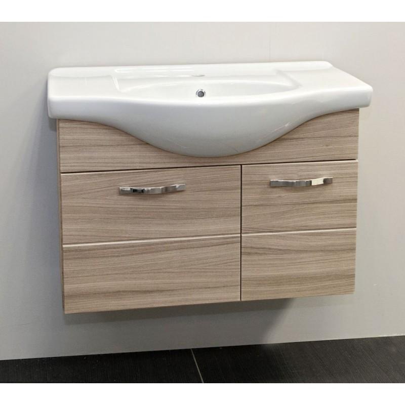 Mobile 85 cm con 2 ante e lavabo in ceramica Olmo | San Marco