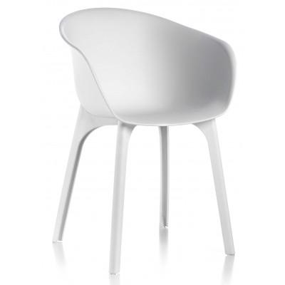 Sedie Bianche In Offerta.Coppia Di Sedie Divina Bianche Da Design Esterno Sedia Da Giardino