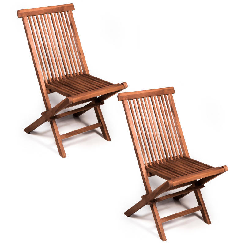 Set 2 sedie pieghevoli in teak da esterno | San Marco