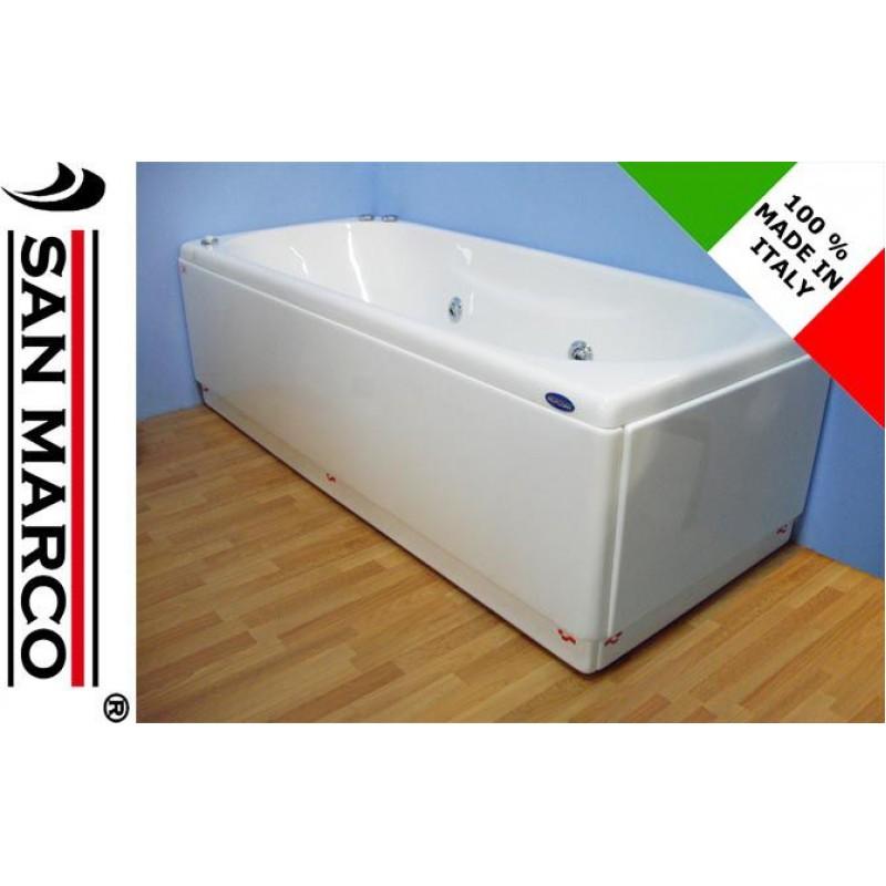 Vasca da bagno idromassaggio rettangolare 150x70 cm san marco - Vasca da bagno 150x70 ...