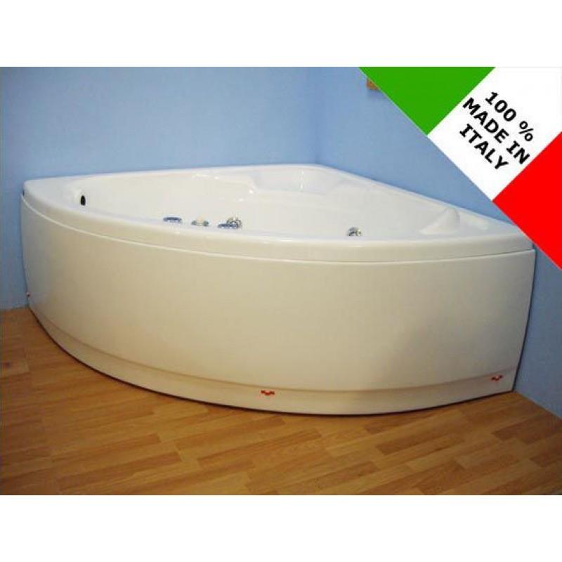 Vasca da bagno angolare con idromassaggio 130x30 cm | San Marco