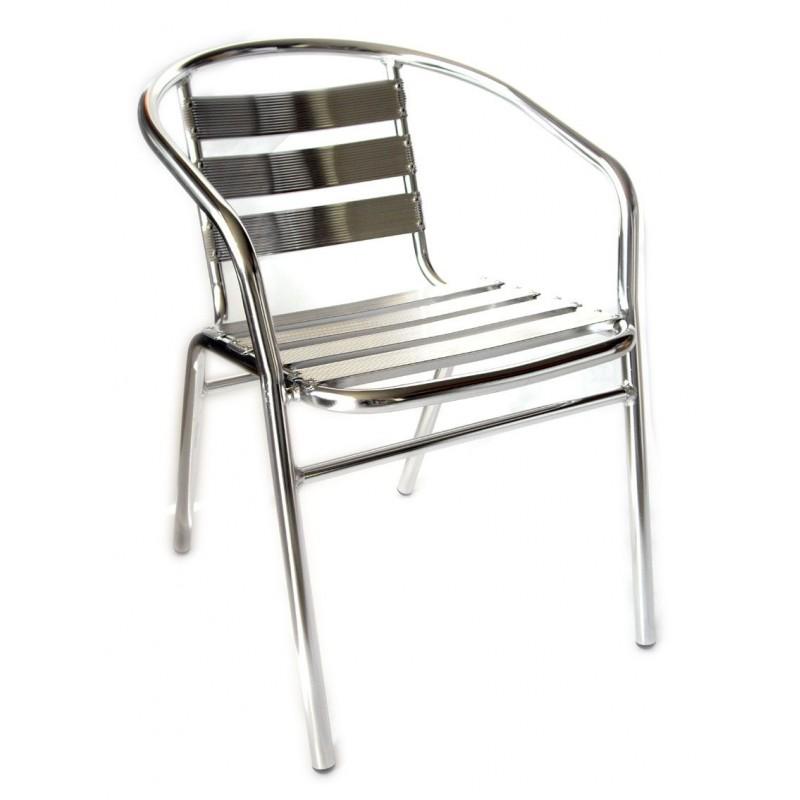 Sedia bar in alluminio per arredamenti esterni san marco - Sedie giardino esterni ...