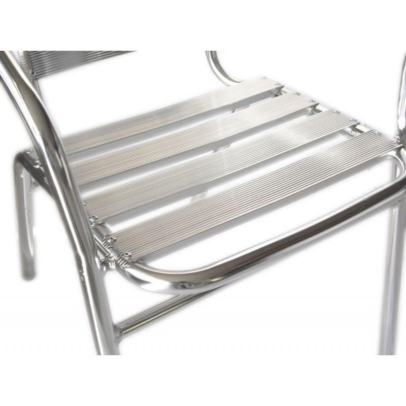 Sedia bar in alluminio per arredamenti esterni san marco for Sedie in alluminio