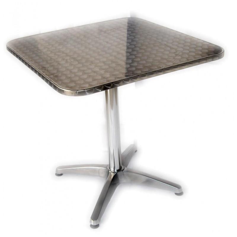 Tavolo bar quadrato semilucido in alluminio san marco for Tavolo in alluminio