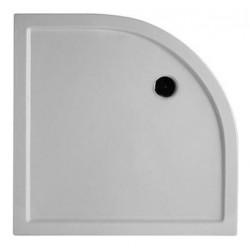 Piatto doccia in ceramica con angolo tondo 90x90 cm