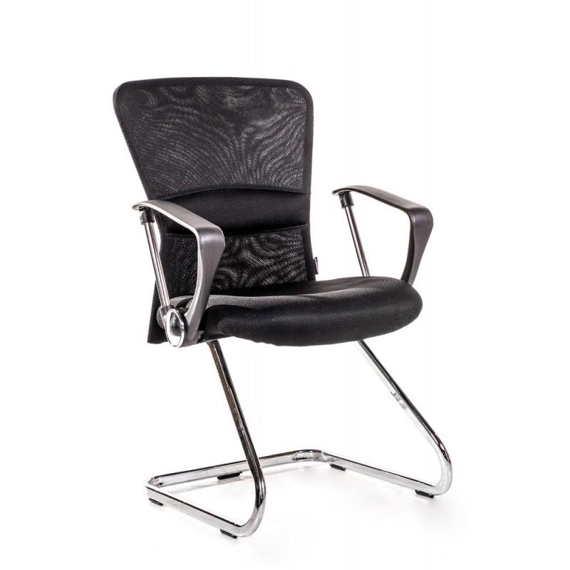 2 sedie per ufficio e sala attesa nere san marco