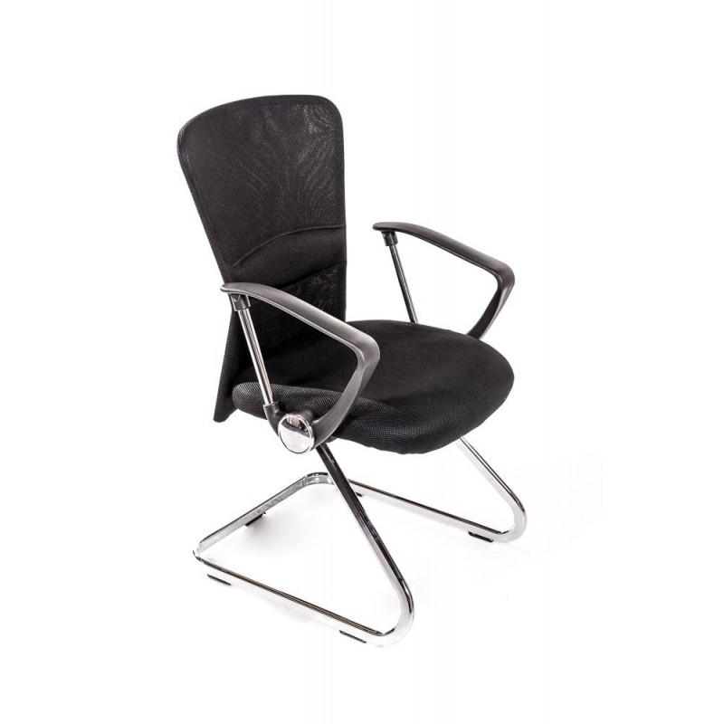 2 sedie per ufficio e sala attesa nere san marco for Sedie economiche per ufficio