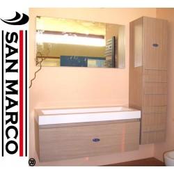 Mobile bagno con lavabo, specchio e pensile sospeso