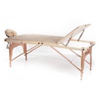 Lettino da massaggio in legno a 3 zone