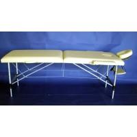 Lettino da massaggio in alluminio a 2 zone