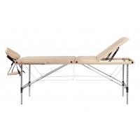 Lettino da massaggio portatile alluminio 3 zone