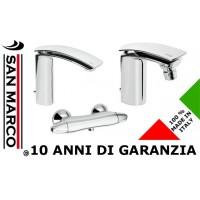 3 Rubinetti per lavabo bidet e doccia Flo Effepi