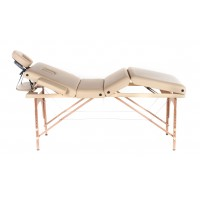 Lettino da massaggio in legno a 4 zone