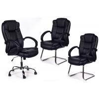 Tris Poltrona ufficio direzionale + 2 sedie sala attesa