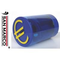 Contamonete per Euro con dispenser rotondo