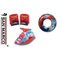 Tris giochi gonfiabili per bambini Spiderman