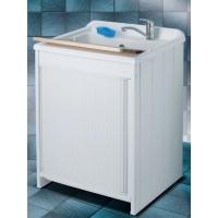 Mobile lavatoio in resina e pvc con struttura a serranda