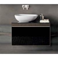 Mobile lavabo Pozzi Ginori Citterio 51x55x89 cm fumè dx
