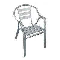 Sedia bar alluminio braccioli doppi Contract