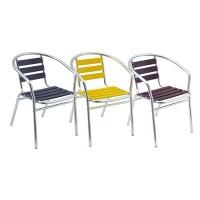 Sedia bar alluminio colorata Contract