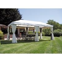 Gazebo da giardino rettangolare 6x3 mt in alluminio antracite