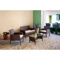 Set giardino in vimini color marrone Cesena