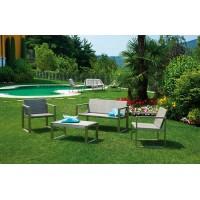 Set giardino alluminio e resin wood