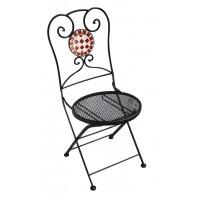Sedia pieghevole in ferro nero Mosaico - verniciata epoxy