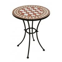 Tavolo in ferro battuto rotondo Mosaico - diametro 55 cm