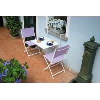Tavolo pieghevole da ringhiera in ferro bianco o antracite - 60x56 cm