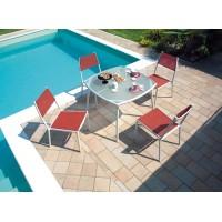Tavolo da giardino in alluminio avorio Sabaudia - quadrato 95x95 cm