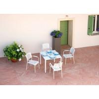Tavolo da giardino in alluminio bianco sandy San Vincenzo
