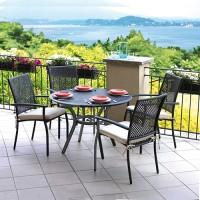 Tavolo da giardino in alluminio grigio Minori - rotondo, diametro 106 cm