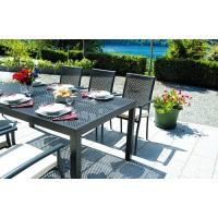 Tavolo da giardino in alluminio grigio Posillipo - rettangolare 180x100 cm