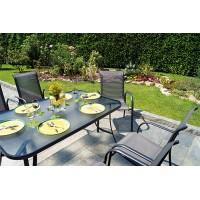 Sedia da giardino in alluminio antracite Sorrento - impilabile