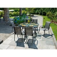 Tavolo da giardino in alluminio antracite Sorrento - rettangolare, 153x98 cm