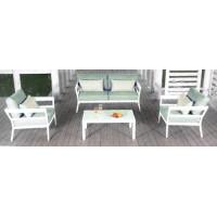 Set giardino alluminio bianco Corniglia