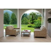 Set giardino con due divani e tavolino Sintra