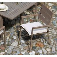 Sedia da giardino in alluminio e resin wood Moneglia - impilabile