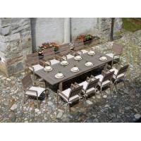 Tavolo da giardino in alluminio e resin wood Monterosso - allungabile, 220/280x100 cm