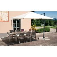 Tavolo da giardino in alluminio satinato e resin wood Bonassola