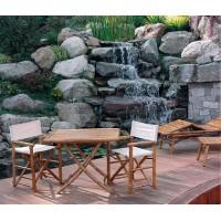 Tavolo da giardino in bambù - quadrato 90x90 cm