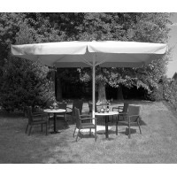 Telo per ombrellone da giardino quadrato telescopico bianco 4x4 mt